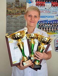 Абсолютной чемпионкой Сибири по массажу стала Оксана Викулова   специалист санатория «Россия».